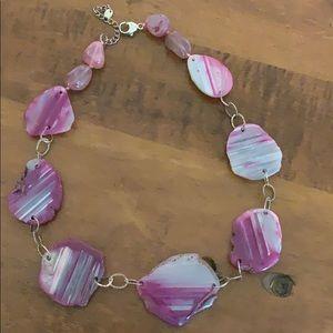 Jewelry - Lavender Pink Quartz Sterling Necklace